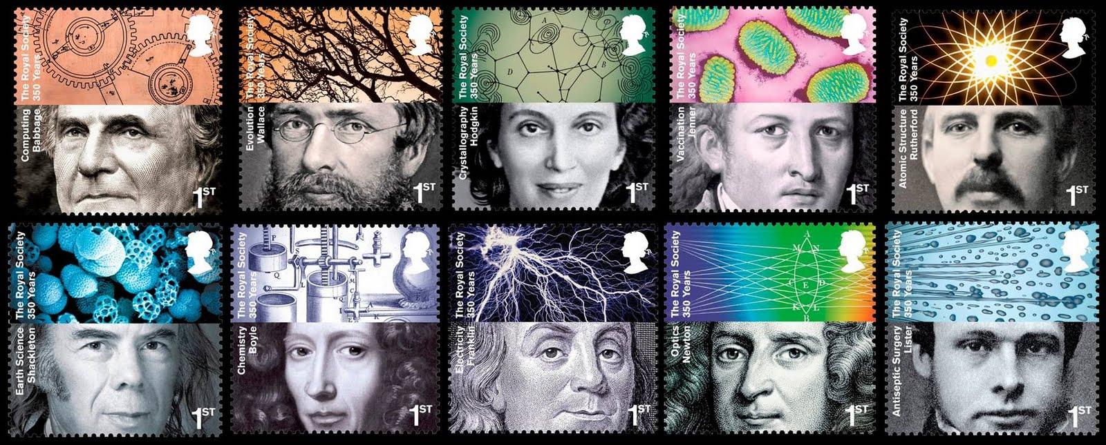 350 years of the Royal Society stamp set