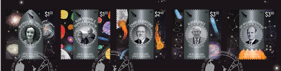 NZ Space Pioneers stamp set